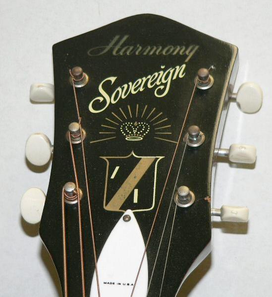 Headstock - Harmony H1260 Sovereign
